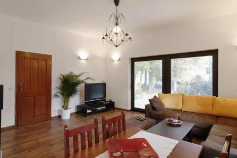Wohnzimmer im Apartment Eichwalde