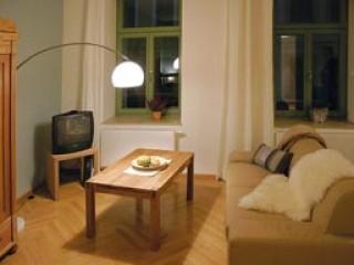 Wohnbereich, Apartment Frauenkirche in Dresden