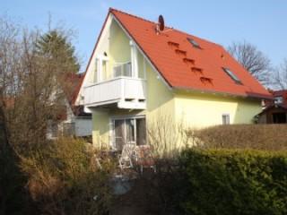 Terrassen-und Balkonseite, Ferienhaus Buschjäger am Fleesensee in Göhren-Lebbin OT Untergöhren