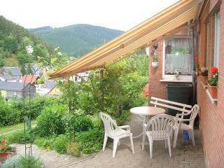 Terasse, Ferienhaus Naumburger Klause in Unterweißbach