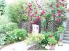 Ein Blick in den Garten der Ferienwohnung