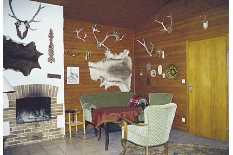 Die Kaminecke im Wohnzimmer