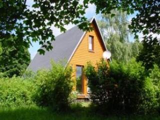 eines der Ferienhäuser, Ferienpark Obere Saale in Bad Lobenstein