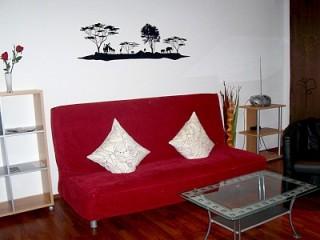 Wohnzimmer, Ferienwohnung Apartement Maria | in Nürnberg in Nürnberg, Mittelfranken
