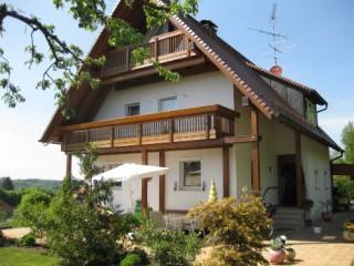Hausansicht Ferienwohnung auf dem Dorf, Ferienwohnung auf dem Dorf in Neuburg an der Kammel
