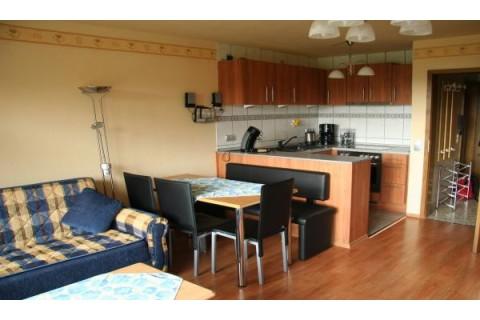 Ferienwohnung Ewert/ Wohnraum, Eßecke,Küche