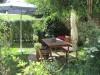 Eine gemütliche Sitzecke im Garten