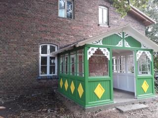 grüne Veranda, Ferienwohnung Kannenberg in Trinwillershagen OT Langenhanshagen