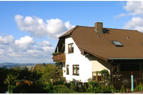 Unser Haus hoch über Dresden
