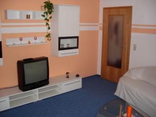 Wohnzimmer m. Schlafcouch, Ferienwohnung Schreiber in Meißen, Sachsen