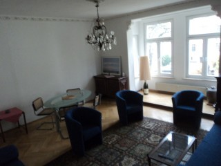 Ess- und Wohnzimmer, Ferienwohnung Steinhäuser in Greiz
