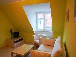 Wohnzimmer, Ferienwohnung Stralsund in Stralsund