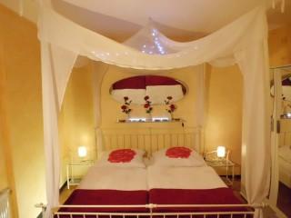 Ferienwohnung Talblick | Schlafzimmer, Ferienwohnung Talblick in Bischoffen