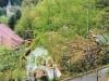 Blick aus Eichenbergwald auf Gartenfront