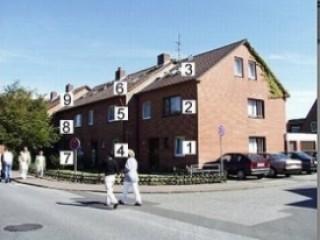 Hausansicht, Ferienwohnungen Fam. Stäcker | Nordseestr. 23-25a in Büsum / Nordseestrand