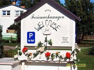 Welcome und Einfahrt, Ferienwohnungen Familie Jacobi in Silz / Fleesensee