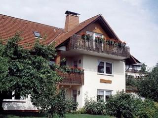 Hausansicht mit dierktem Blick auf den Twistesee, Ferienwohnungen Hoppenhof 9 in Bad Arolsen