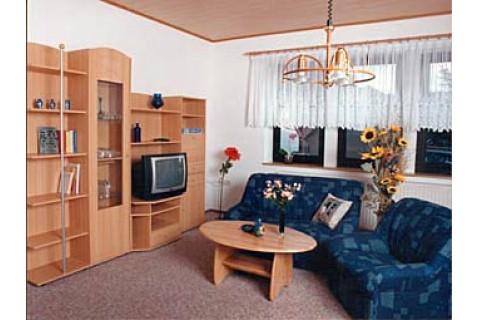 Teilansicht des Wohnzimmers in der Gästewohnung