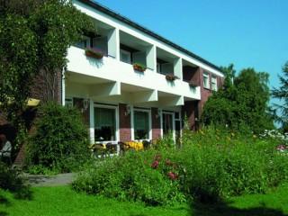 Hausansicht, Hotel-Restauranthaus Pöpsel in Beckum, Westfalen