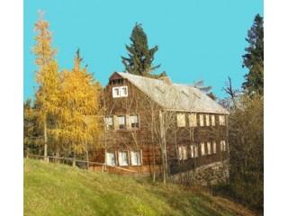 Hausansicht Lausitzer Hütte, Ferienhaus Lausitzer Hütte Zittauer Gebirge in Waltersdorf