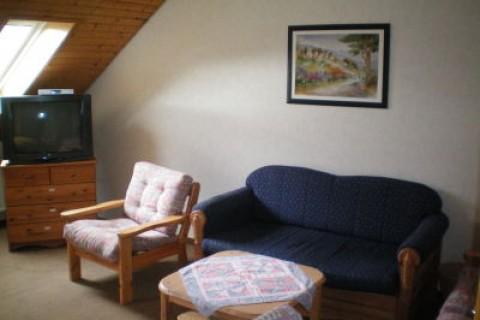 Die Sitzecke im zweiten Schlafzimmer