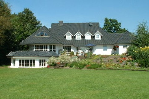 Gartenansicht Pension