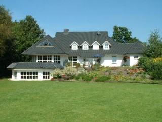 Gartenansicht Pension, Pension Bi uns to Hus in Klein Meckelsen